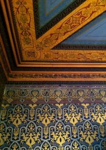 View of painted walls and painted ceiling in Lippitt House, Providence, RI.