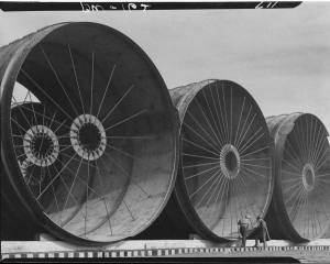 Margaret Bourke-White, Fort Peck, Montana, Relief Project Diversion Tunnel Apparatus, 1936. (c) Time Inc.