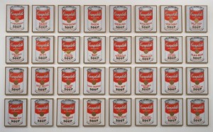 Andy Warhol, Campbell's Soup Cans, 1962.